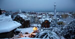 barcelone neige