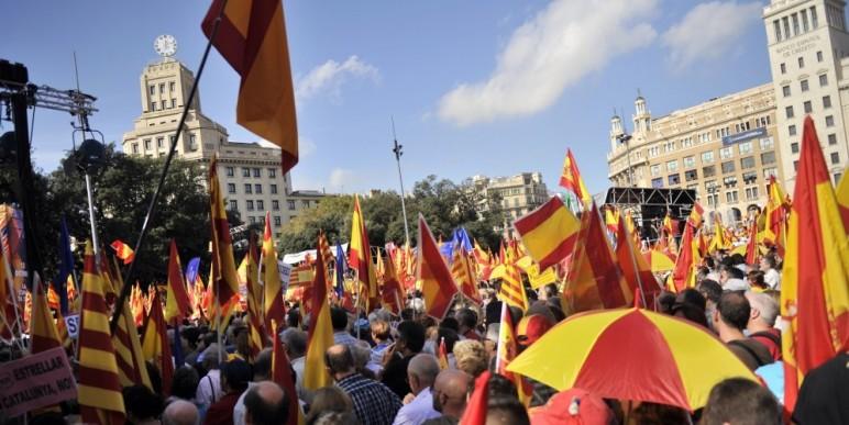 barcelone drapeau espagnol