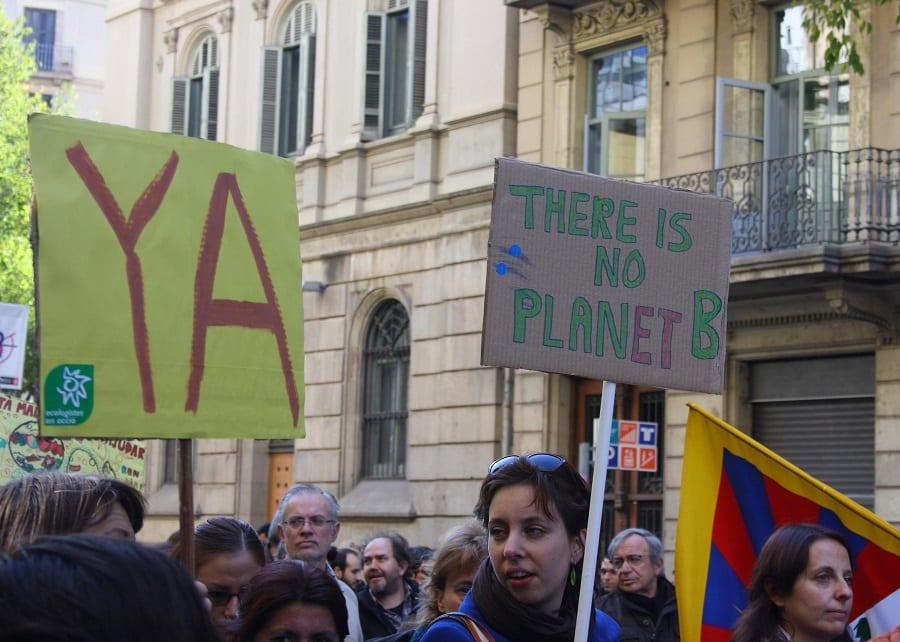 manifestation barcelone climat