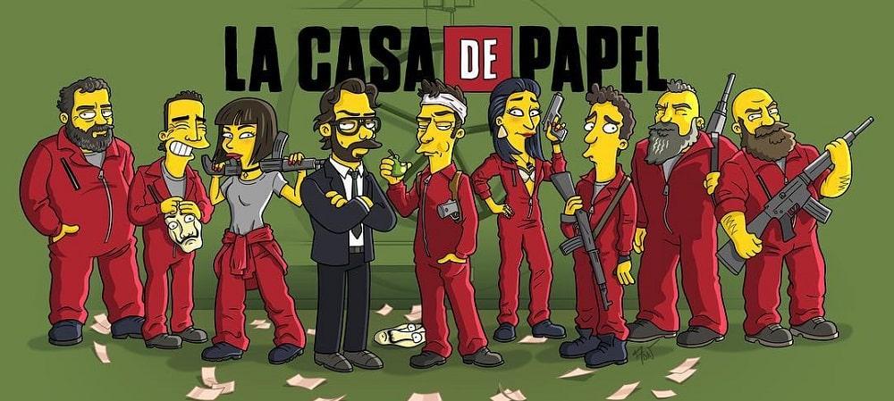 casa de papel simpsons ok