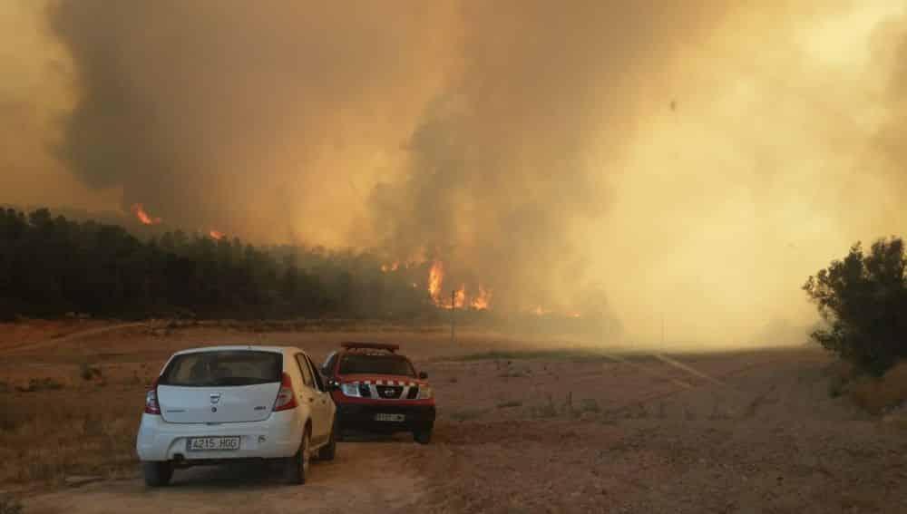 incendie sud de la Catalogne