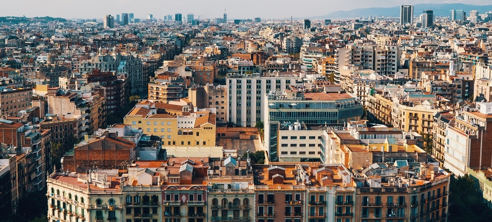 barcelone vue immobilier