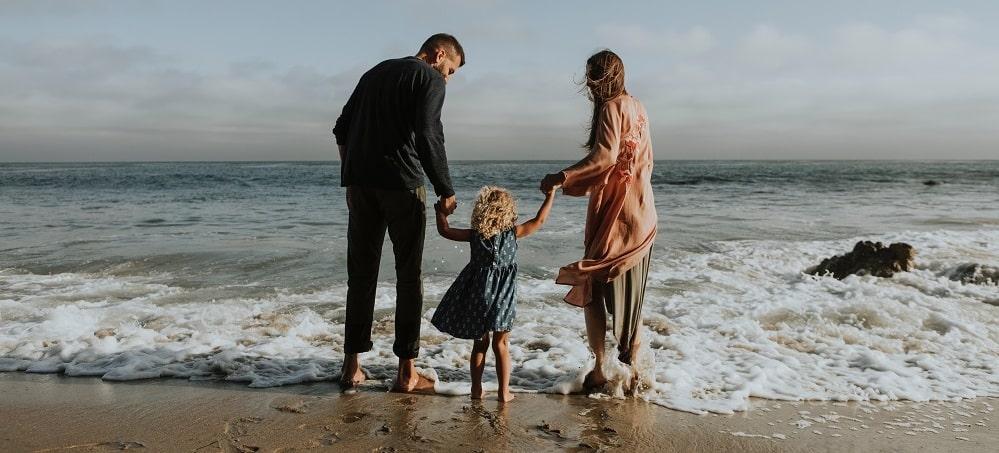 famille une plage