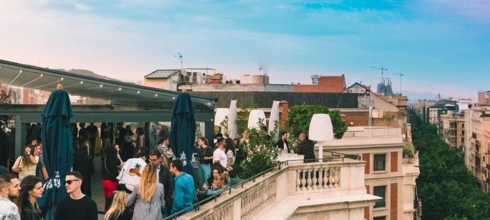 rooftop disco barcelone