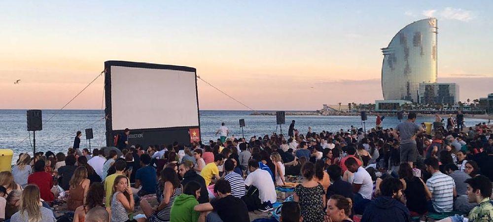 cinema en plein air Barcelona