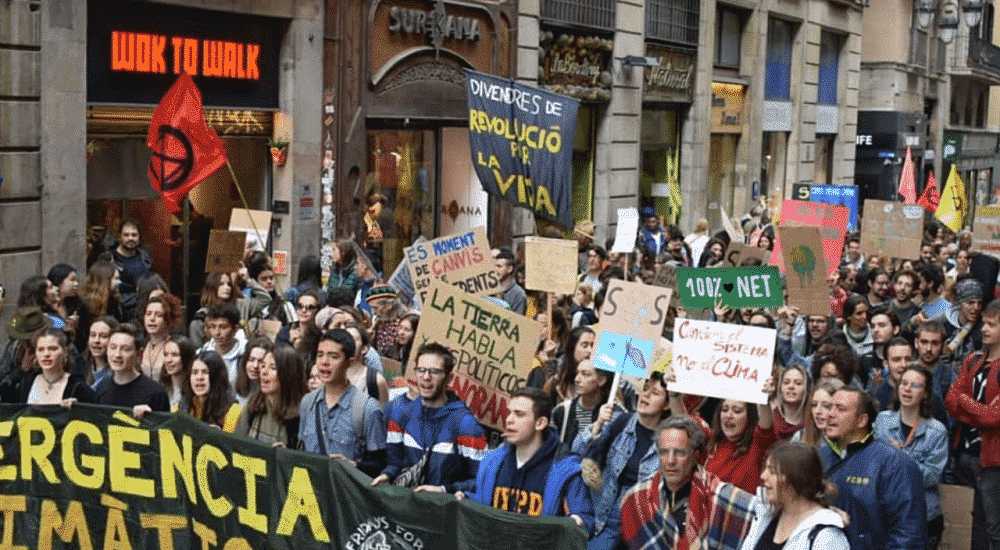 fridays for future manifestation barcelona