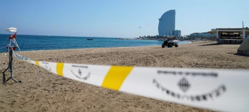 plage barcelone bombe vid