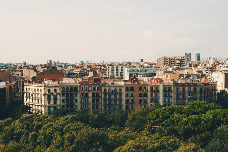 vue barcelone automne