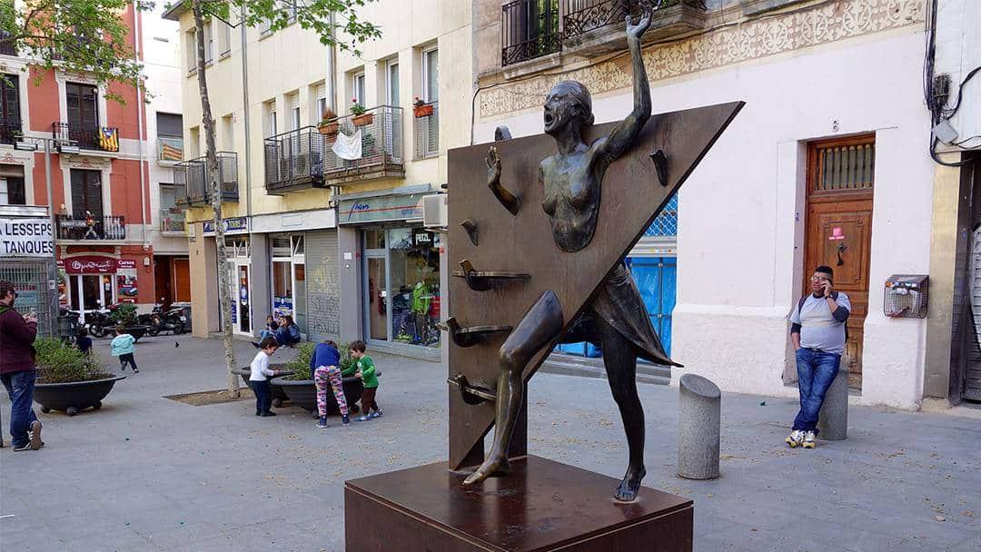 statue barcelone littérature