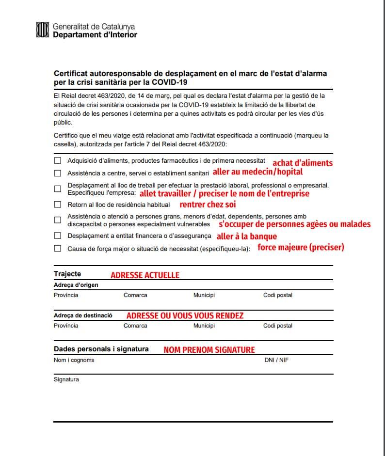 coronavirus catalogne