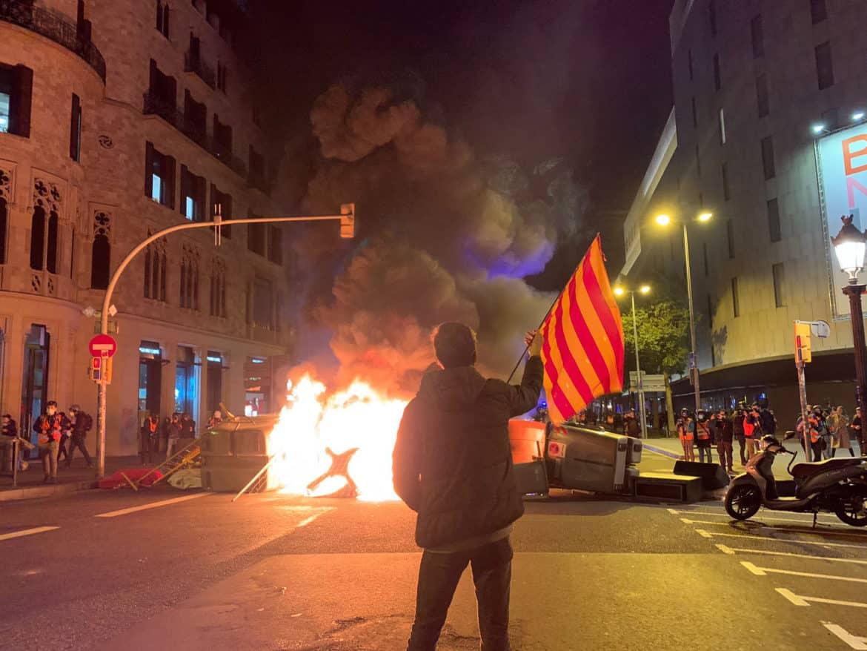 émeutes à Barcelone